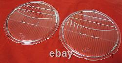1928 to 1931 Ford Car Truck Model A Glass Headlight Lenses PAIR with LOGO Lens