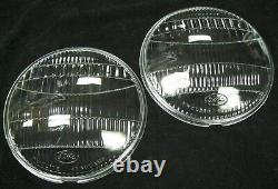 1935 Ford Car 1935-1939 Ford Pickup Truck Glass Headlight Lenses Fluted PAIR