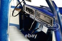 1975 FORD F-100 PICKUP TRUCK WithBOX COVER BLUE 1/18 DIECAST CAR GREENLIGHT 13544
