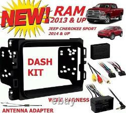 2013 & Up Dodge Ram Truck Car Stereo Installation Dash Kit +harness +antenna