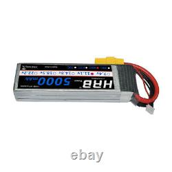 2pcs HRB 11.1V 3S 5000mAh LiPo Battery 50C XT90 For RC Helicopter Truck Car Boat