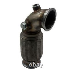 3 V-Band Downpipe Low Profile 90° with Flex Bellows Down-pipe For Car Truck