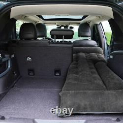Black Inflatable Mattress Travel Back Seat Air Bed Durable Camping For SUV Car