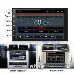 Double 2Din Android 9.1 Car Truck Stereo Radio GPS MP5 7 Touch Screen 2GB+16GB