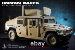 GO-TRUCK 1/6 Scale Heavy Armored HMMWV UAH-M1114 Car Model For 12'' INSTOCK