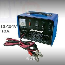 Heavy Duty Portable Car Battery Van Truck Charger 10A 12V 24V Fast Charging S17
