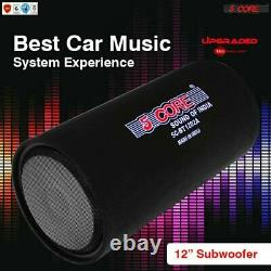 PREMIUM Car Truck Audio Subwoofer Bass Tube 12 Powered 1200W PMPO w AMP 5Core