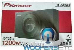 Pioneer Ts-a2500lb 10 1200w Subwoofer Bass Speaker Shallow Truck Box Enclosure