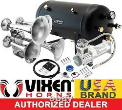Train Horn Kit for Truck/Car/Pickup Loud System /5G Air Tank /200psi /4 Trumpets