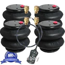 V Air Ride Bags Springs 4 D-I 2600 1/2npt 1/2 airline 7-Switch